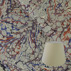 Munro and Kerr terracotta and purple marbled empire paper lampshade