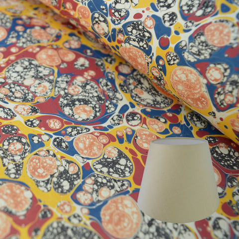 Munro and Kerr multicoloured marbled paper empire lampshade