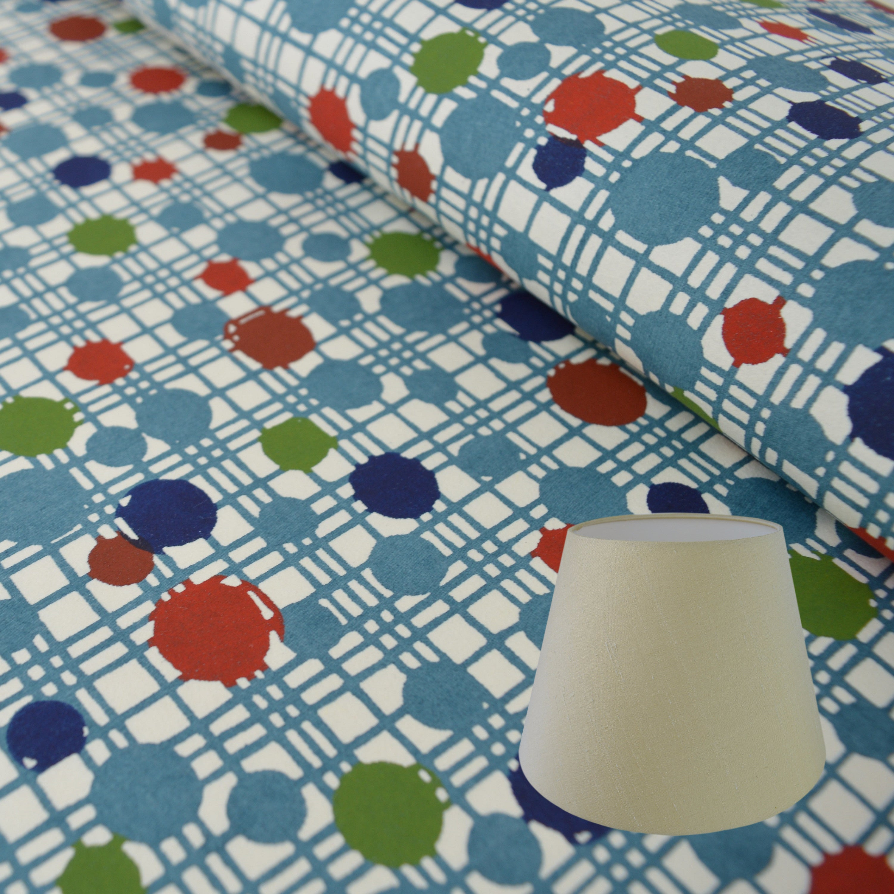 Munro and Kerr printed Japanese Katazome-shi hand made paper lampshade