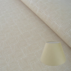 Munro and Kerr stone hand printed herringbone paper for a tapered empire lampshade