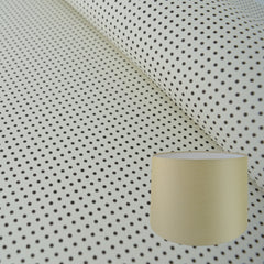Munro and Kerr black and white monochrome printed spot paper for a tapered drum lampshade