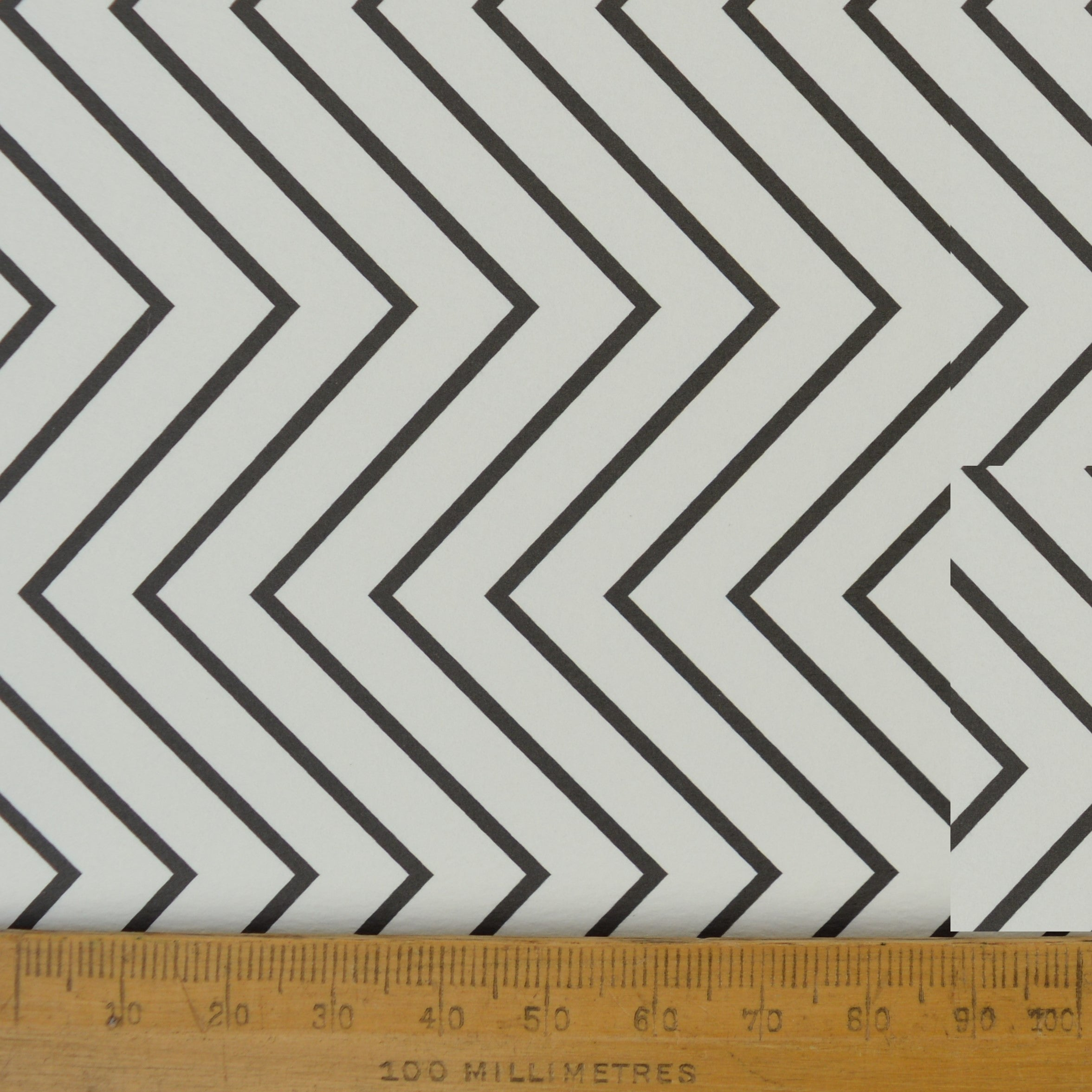 Munro and Kerr zig zag black and white monochrome paper for a lampshade