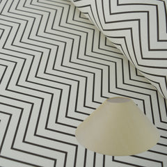 Munro and Kerr zig zag black and white monochrome paper for a coolie lampshade