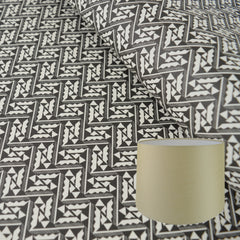 Munro and Kerr black and white monochrome printed Esme Winter paper for a lampshade