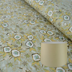 Munro and Kerr gold floral chiyogami paper for making into lampshades