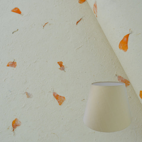 Munro and Kerr real marigold petal paper for a handmade empire lampshade