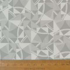 Munro and Kerr grey printed geometric Esme Winter paper for a lampshade