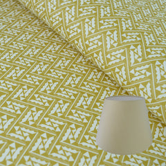 Munro and Kerr yellow printed Esme Winter paper for an empire lampshade