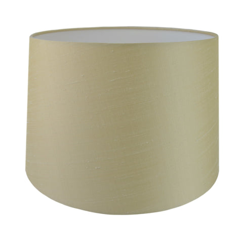 Cream Dupion Silk Tapered Drum Lampshade