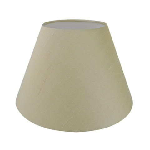 Munro and Kerr silk dupion cream tapered empire lampshade
