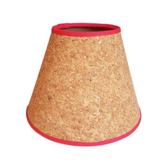 Munro and Kerr handmade cork tapered empire lampshade with white natural navy black red trim