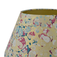 Munro and Kerr blue pink and metallic gold marbled paper for a lampshade