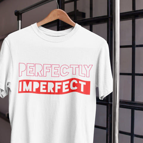 Perfectly Imperfect unisex white tee