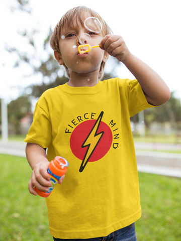 Fierce Mind Yellow Kids Tee