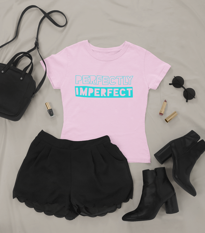 Perfectly Imperfect Pink Tee