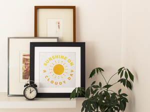 Sunshine on a cloudy day A4 print