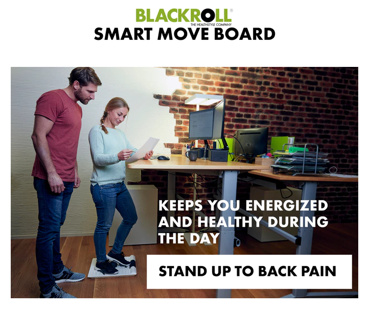 BLACKROLL Smart Move Board - Keeps you energized and healthy during the day. Stand up to back pain.