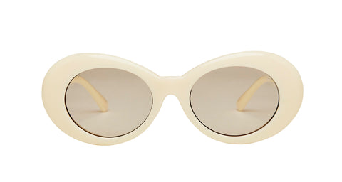 "Oval Cream ""Rules Everything"" Sunglasses"