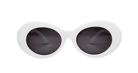 "Oval White ""Coco You know"" Sunglasses"