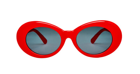 "Oval Red ""Cry Baby"" Sunglasses"