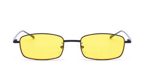 "Square Black Yellow ""Clarice Starling"" Sunglasses"