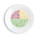 The healthy portion plate (word design)
