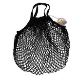 French style string shopping bag black
