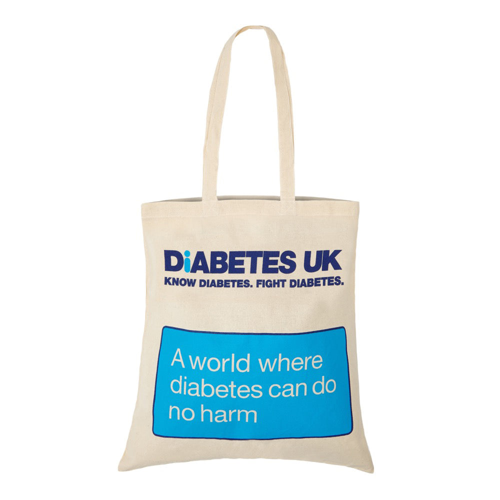 Cotton Shoulder Bag With Diabetes UK Logo - Diabetes UK Shop 5b1febe397ab