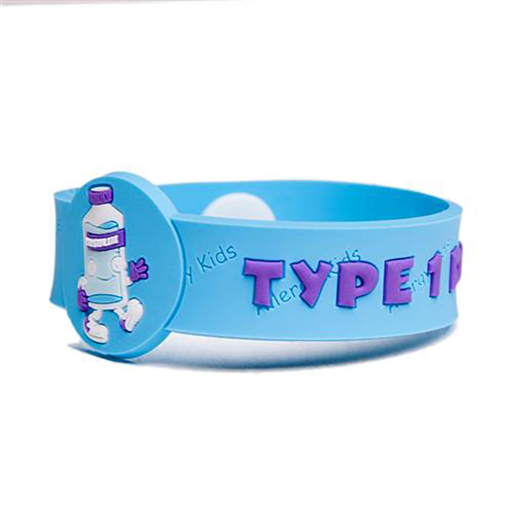 itm alert seller s silicone type medical band bracelet uk diabetes wrist ebay