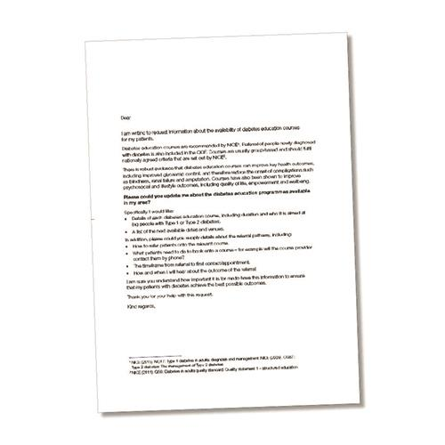 taking control hcp template letter diabetes uk shop taking control hcp template letter