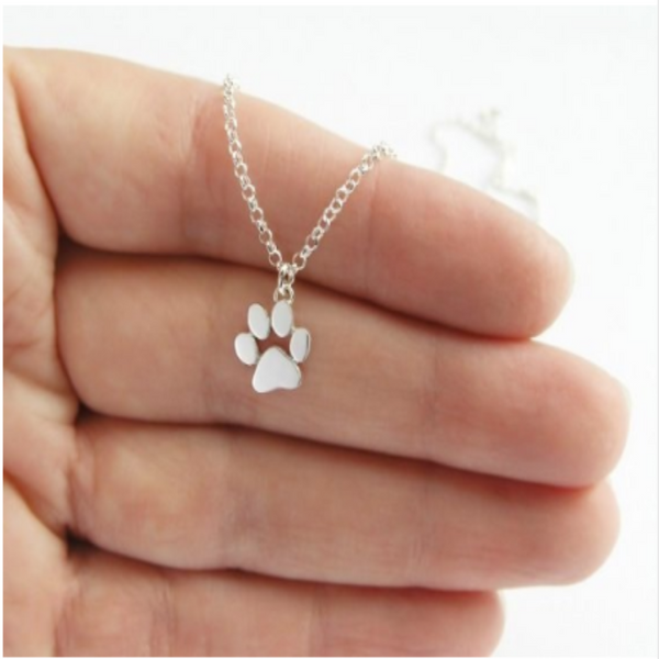 Cute Silver Dog Paw Pendant