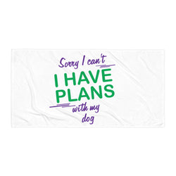 Dog Print Beach Blanket