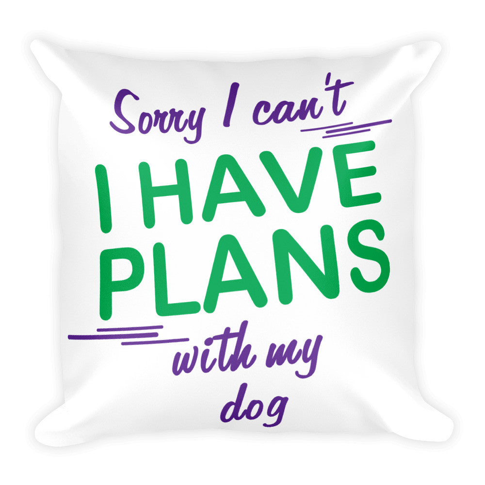 Square Dog Print Pillow