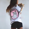 Punk Themed Cat Print T Shirt