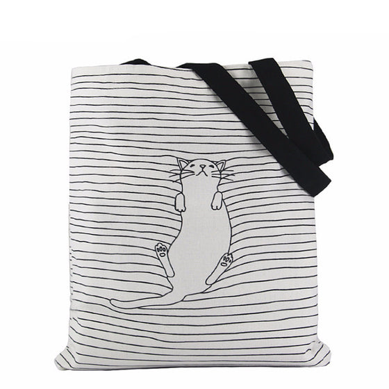 Striped Cat Hand Bag