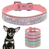 Rhinestone Leather Puppy Collar