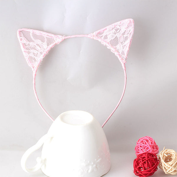 Gorgeous Lace Kitten Hair Bows
