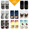 8 Different Styles! Cat Socks! Low Cut!