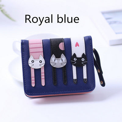 Cute Cartoon Leather Cat Wallet