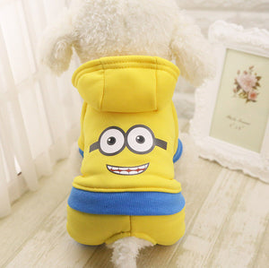 Minion Super Hero Dog Hoodie