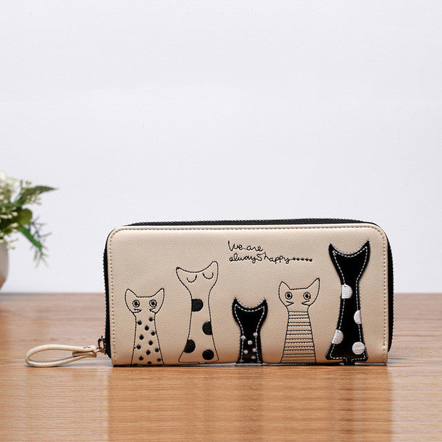 f1c66b305ae Buy Cat Family Leather Cat Wallet For Women! at Lowest Price ...