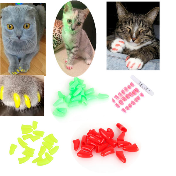 Colorful Cat Nail Caps Collection