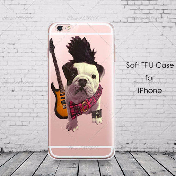 Silicone Cute French Bulldog iPhone Case