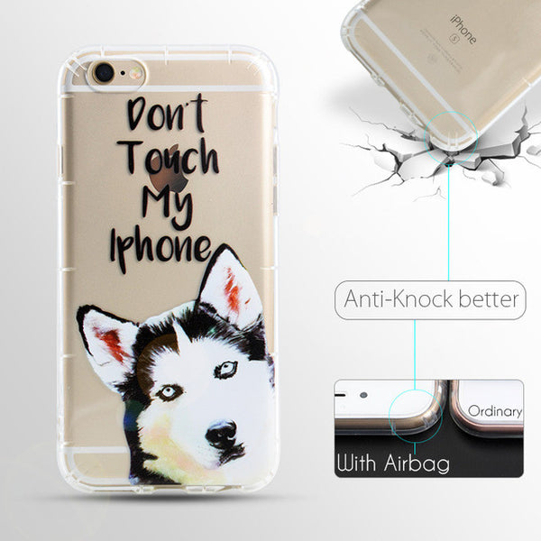 """Dont Touch My Phone"" Dog Phone Cases"