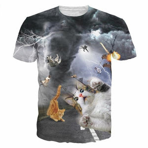 [HOT] Funny Cat Print T Shirts! Multiple Shirts!