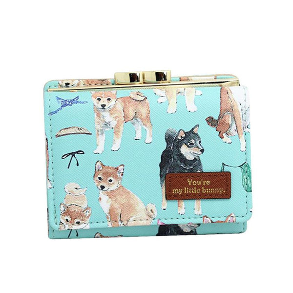 Doge and Friends Leather Dog Print Wallet