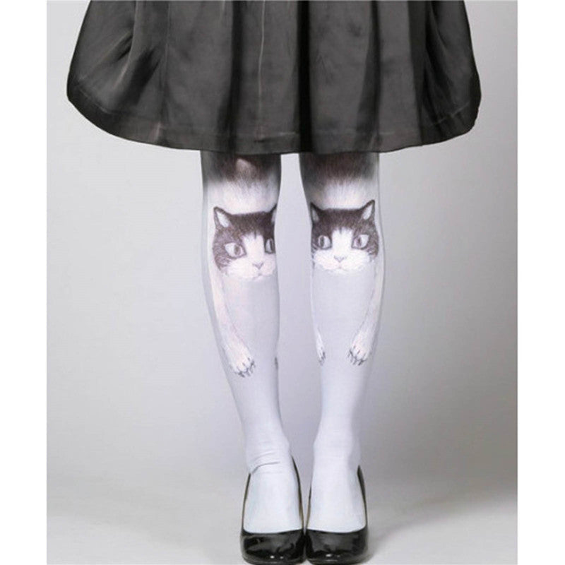 Cute White Hello Kitty Tights