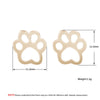 Cut Cat Paw Cat Stud Earrings