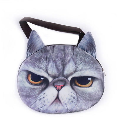 [HOT] Cute 3D Cat Face HandBag! Best Selling!
