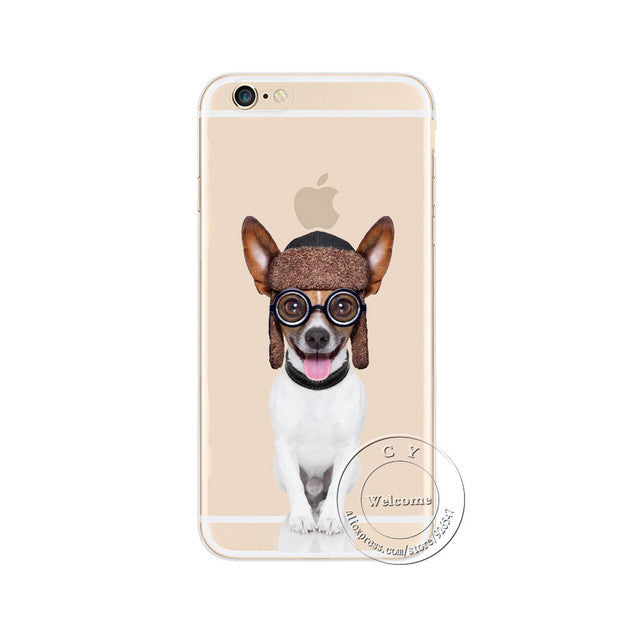 Cool Transparent Dog Phone Cases
